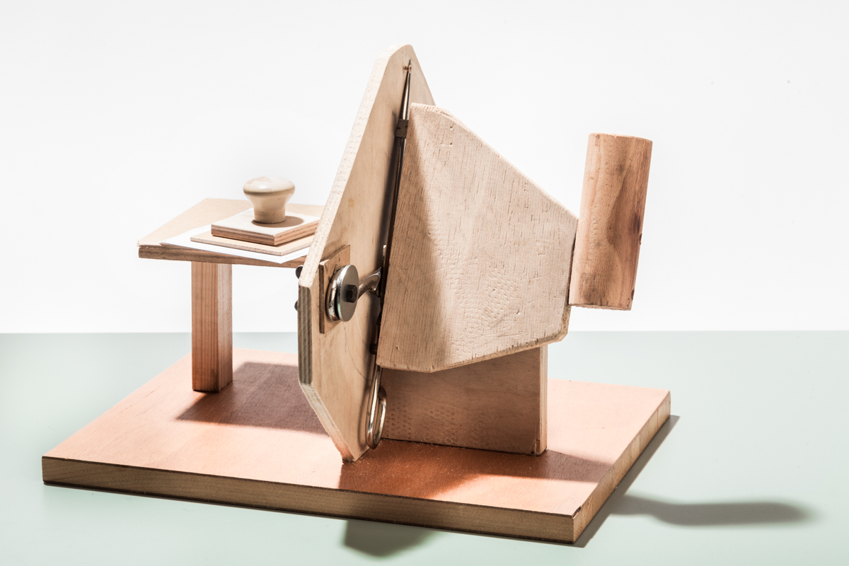 Einzelzettelschneidmaschine Holz 2
